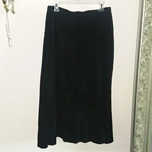 Leather maxi skirt from Chicos Size 2